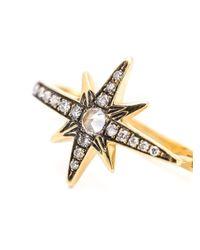 Venyx | Metallic Star Sapphire And Diamond Earrings | Lyst