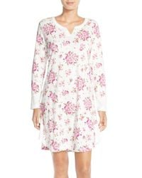 Carole Hochman - Multicolor Print Cotton Sleep Shirt - Lyst