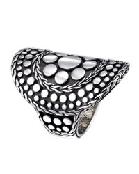 John Hardy - Metallic Silver Curved Dot Ring - Lyst