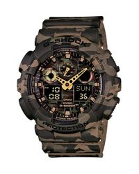 G-Shock - Brown Xl Camouflage Pattern Ana-digi Watch for Men - Lyst