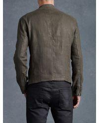 John Varvatos Gray Double Zip Moto Jacket for men