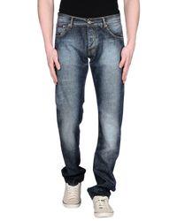 Ballantyne - Blue Denim Trousers for Men - Lyst