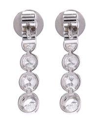 Kojis | White Gold Diamond Drop Earrings | Lyst