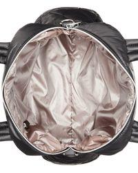Calvin Klein Black Cire Nylon Quilted Satchel
