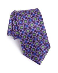 Ike Behar | Purple 'macclesfield Print' Silk Tie for Men | Lyst