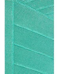 Hervé Léger Green Bandage Dress