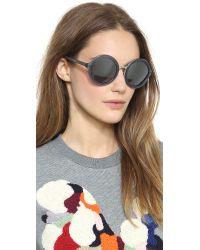 3.1 Phillip Lim Purple Thick Rim Round Sunglasses