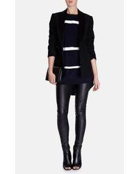 Karen Millen - Blue Contrast Stripe Knit Tunic - Lyst