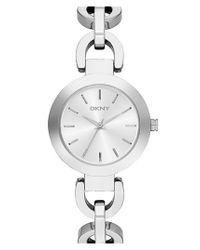 DKNY Metallic 'stanhope' Chain Link Bracelet Watch