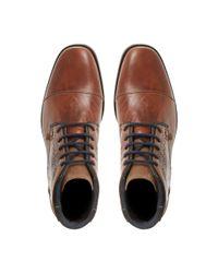 Dune Brown Chopper Toecap Lace Shoes for men