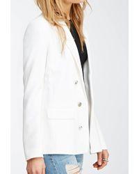 Forever 21 - White Open-front Blazer - Lyst