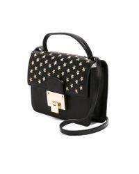 Jimmy Choo - Black Milla Large Glitter Clutch Bag - Lyst