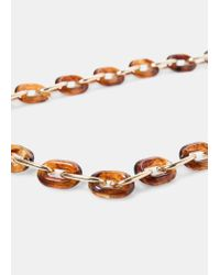 Violeta by Mango | Brown Mixed Link Necklace | Lyst