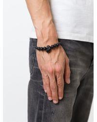 Alexander McQueen | Black Onyx Beaded Skull Bracelet for Men | Lyst
