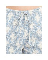Ralph Lauren - Blue Floral-plaid Cotton Pajama Set - Lyst