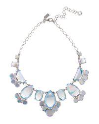 kate spade new york - Metallic Mirrored Rhinestone Statement Necklace - Lyst