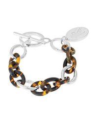 Lauren by Ralph Lauren - Brown Chainlink Charm Bracelet - Lyst