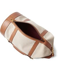 Gucci Natural Leather-Trimmed Canvas Holdall for men