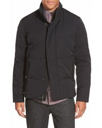 Vince | Black Trim Fit Quilted Twill Jacket for Men | Lyst