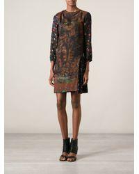 Wunderkind - Brown 'Cat' Printed Dress - Lyst