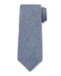 Isaia Blue Solid Donegal Tie for men