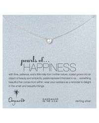 Dogeared | Metallic Sterling Silver Pearls Of Happiness Necklace | Lyst