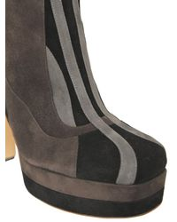 Rochas - Gray 130mm Suede Boots - Lyst