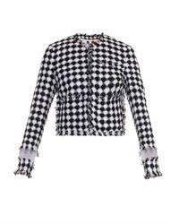 MSGM | Black Diamond Tweed Jacket | Lyst