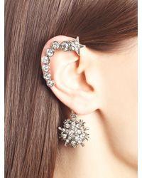 Oscar de la Renta Metallic Swarovski Crystal Pavé Star Ear Cuff