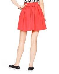 Kate Spade | Pink Crepe Gathered Skirt | Lyst