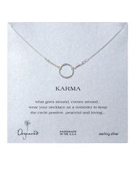 Dogeared | Metallic Sterling Silver Karma Necklace | Lyst