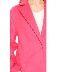 Cedric Charlier Pink Wool Coat - Rose