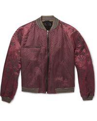 Haider Ackermann - Red Floral-Jacquard Linen And Silk-Blend Bomber Jacket for Men - Lyst
