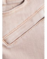 Mango - Pink Slim-fit Cotton-blend Trousers - Lyst