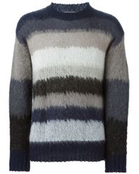 Mauro Grifoni - Blue Striped Sweater for Men - Lyst