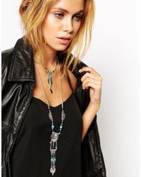 ASOS | Metallic Fine Chain Multirow Necklace | Lyst