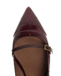 Tabitha Simmons - Red Belfy Leather Flats - Lyst