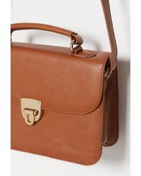 Forever 21 | Brown Faux Leather Mini Satchel | Lyst