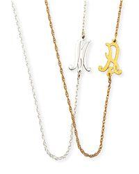 Jennifer Zeuner Metallic Mini Initial Necklace