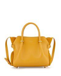 Nina Ricci - Yellow Mini Marche Leather Satchel Bag - Lyst