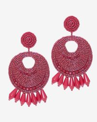 Kenneth Jay Lane | Red Bead Circle Earrings | Lyst
