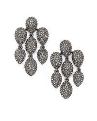 Adriana Orsini Metallic Pavé Crystal Chandelier Earrings/gunmetal-tone