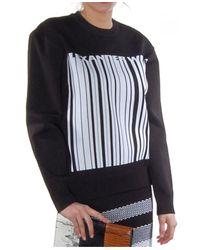 Alexander Wang - Black Logo Barcode Sweatshirt - Lyst