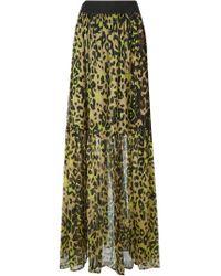 Marco Bologna - Black Long Leopard Print Skirt - Lyst