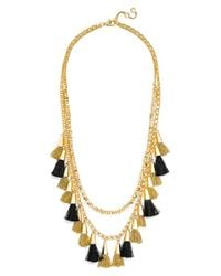 BaubleBar | Black 'grenada Stands' Tassel Necklace | Lyst