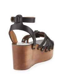 Isabel Marant - Black Zia Leather Sandals - Lyst