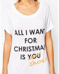 Adolescent Clothing - White All I Want Christmas Gift Nightshirt - Lyst