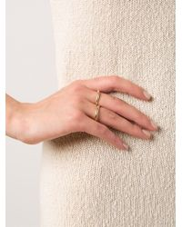 Kelly Wearstler Metallic 'cabot' Two Finger Ring