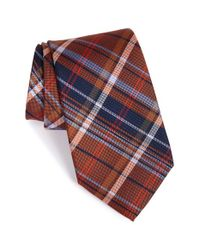 Nordstrom - Brown Plaid Silk Tie for Men - Lyst