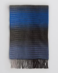 Bloomingdale's Gray Ombré Minibox Scarf for men